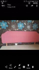 Pink felt Headboard