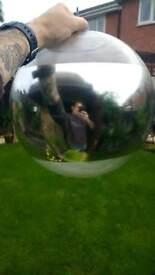 Mirror globe ceiling light