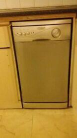 Dishwasher slimline colour silver
