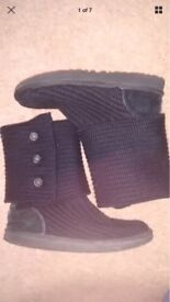 Black Cardy Ugg boots - Size 5.5