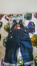 Dungarees 9-12m