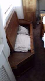 window seat/blanket box