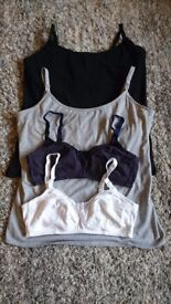 Two Nursing Vests, Two Nursing Bras