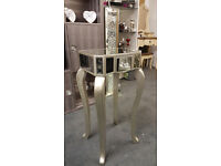 Telephone table silver mirror