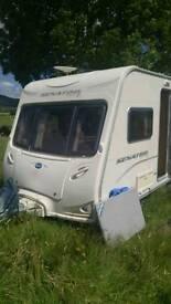 4 berth caravan with island bed