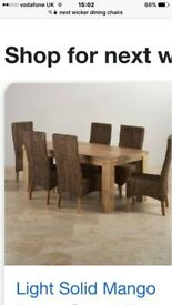 dining chairs x 6 will sell for £25 each or 6 for £130 good condition