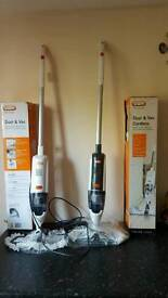 Vax vac and dust cleaners cordless n corded