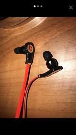 Red beats earphones