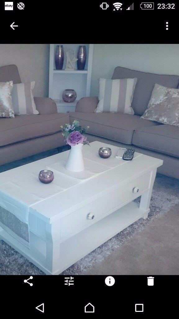 Baumhaus hamptom white solid ash coffee table