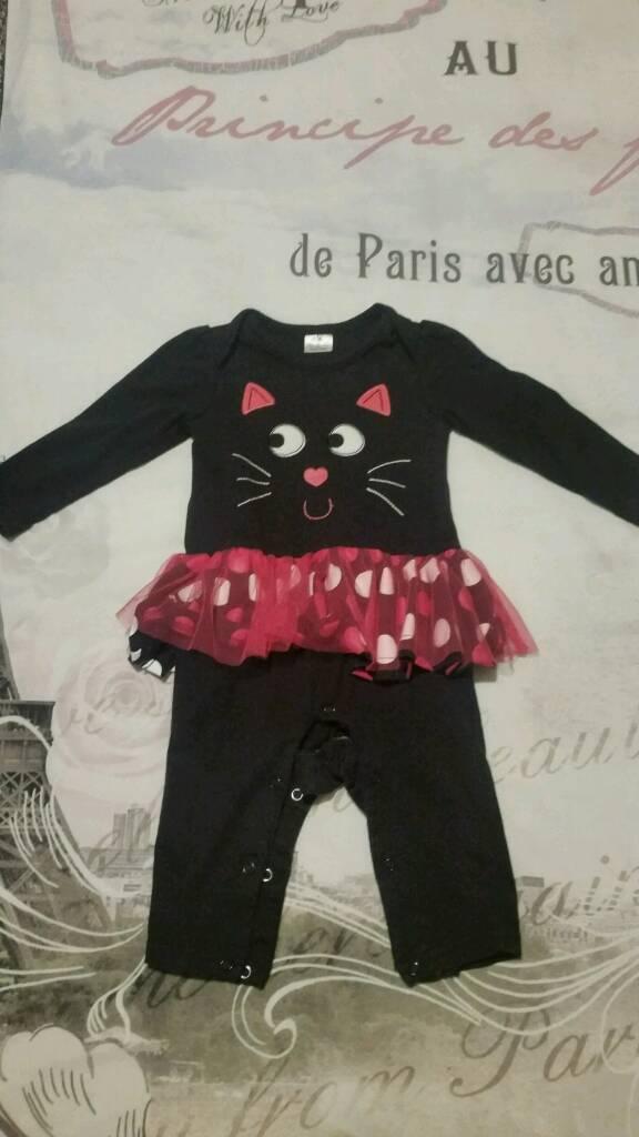 Cat Halloween costume 6-9 months