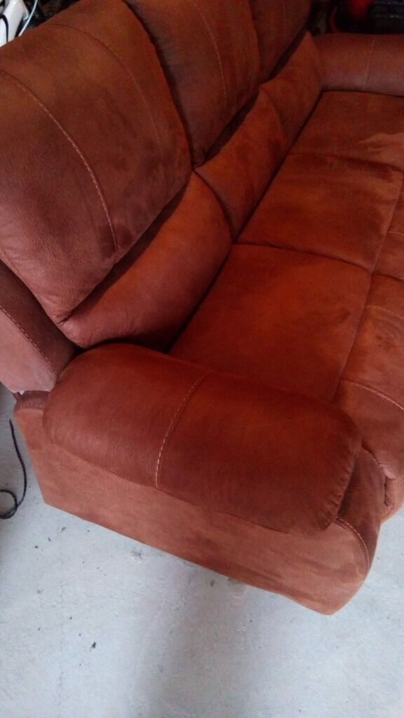 Harveys Westchester 3 seater sofa. 10 months old. Faux suede. Saddle Brown.