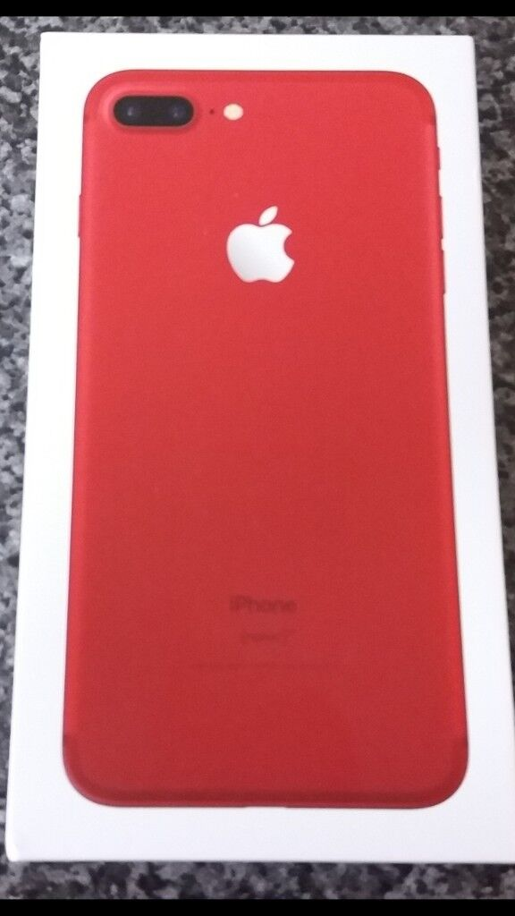 718ae808a51 IPHONE 7 PLUS 128GB SIM FREE IN LIMITED EDITION RED NEW IN THE BOX UNLOCKED