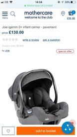 Joie I-gem infant carrier (colour pavement)