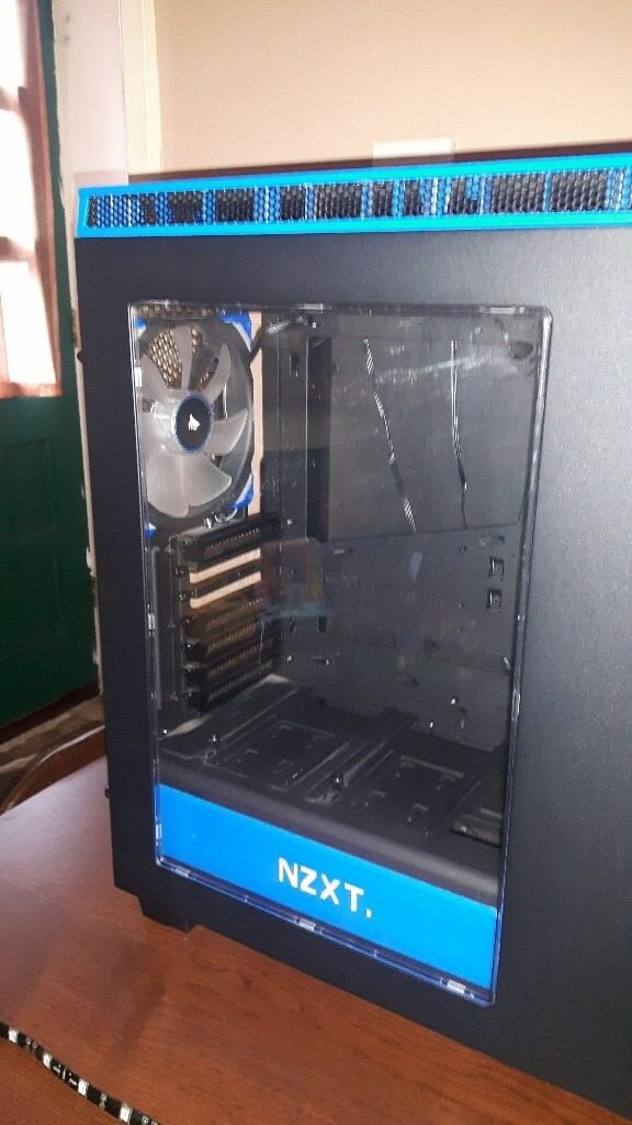 Nzxt H440 Blackblue Windowed Pc Gaming Case In Ashton Under