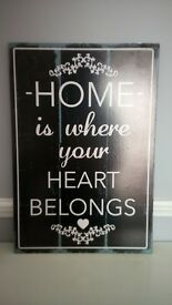 """picture """"home is where your heart belongs"""""""
