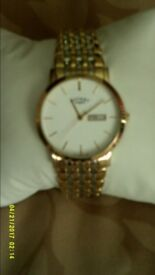 Rotary Day & Date Dress Watch. Two tone Stainless steel bracelet