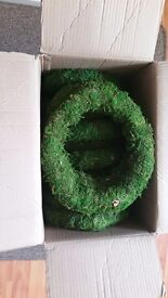 12 inch mossed wreath rings