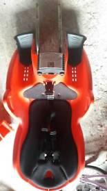 Kids red rear bike seat