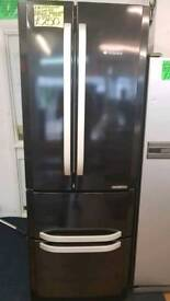 HOTPOINT BLACK QUADRIO  FROST FREE FRIDGE FREEZER