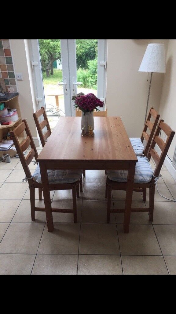 Dining table with 4 chairs £60