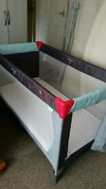 "Baby folding travel bed with 4"" Mattress and Folding Mattress too"