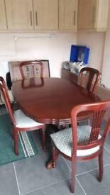 Rossmore mahogany dinning room table