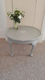 Classic coffee table on cabriole legs is finished in Annie Sloan chalk paint 'Paris Grey'