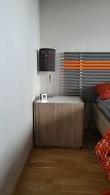 Ikea Nyvoll Bedside Table White oak / gray X2