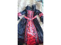 Girls vampire Halloween Costume age 9-10 from TU IMMACULATE