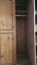 Triple solid wood wardrobe