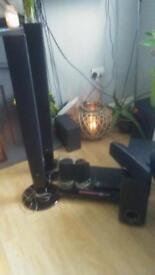LG DVD player & surround sound speaker system.