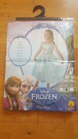 Disney Frozen Princess Classic Elsa Costume/Dress New