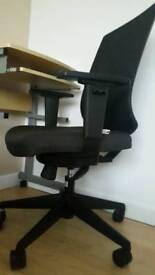 Laptop desk and ergonomic chair
