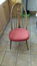 Ercol Golden Dawn Swan Back dining chairs