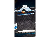 Ladies cycling shorts and top