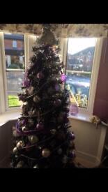 Tesco 6 foot tall Black Christmas tree.