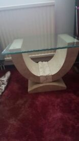 Beautiful glass top large coffee table and 2 smaller ones