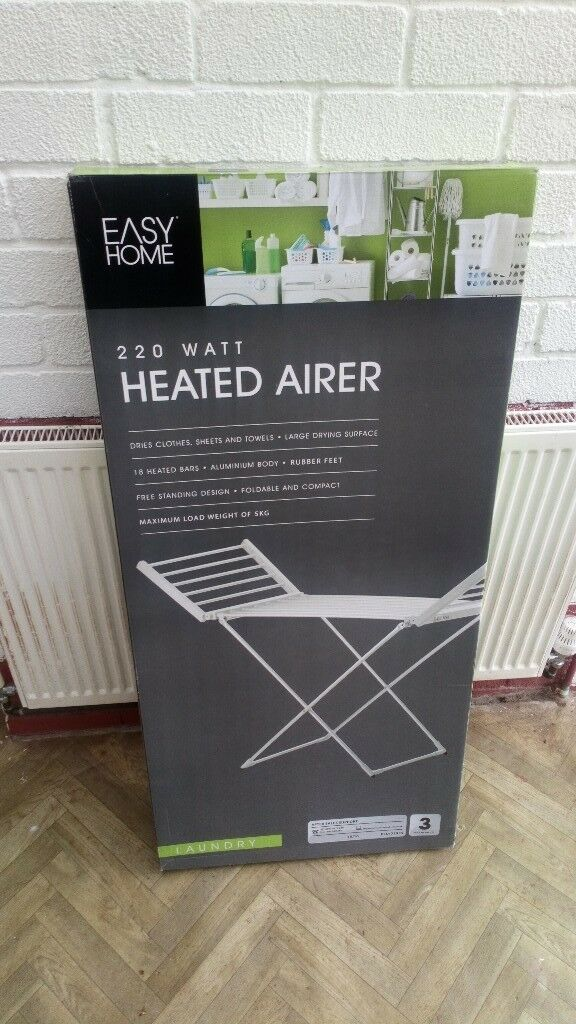 Heated airer