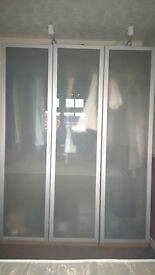 Double And Single Silver Wardrobes