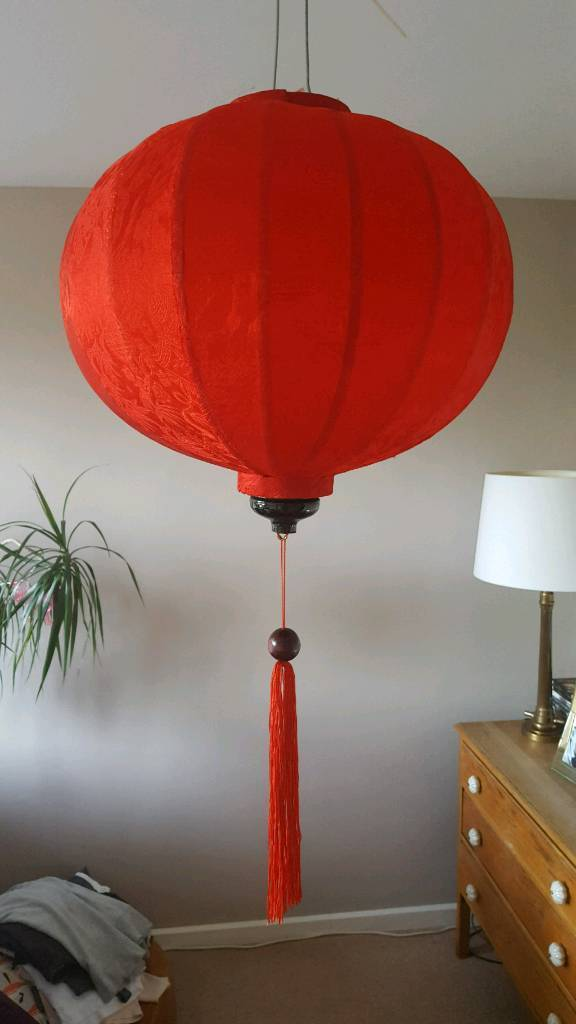 Two red Vietnamese lanterns