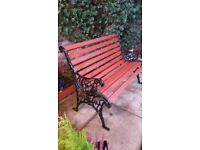 CAST IRON BENCH * 100..too*120 Two Sizes