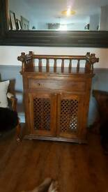 Solid wood cabinet orintial artifact