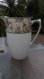 "Large china jug by Royal Hampton 11"" high and 23"" around largest part."