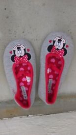 Girls size 2 minnie mouse slippers from Next. In excellent like new condition.