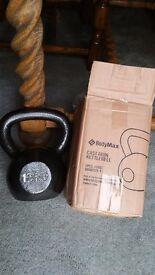BNIB Bodymax Cast Iron Set of 3 Kettlebells Weights, 8kg , 12kg , 16kg