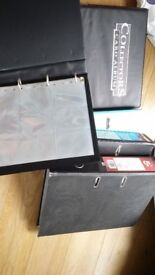 Binders and trading card storage pockets