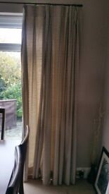 90' drop and extra wide curtains fully lined with silky feel