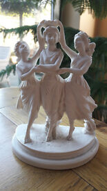 Dancing Girls in satin white finish.