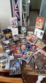 Job lot DVD's.