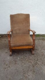Rocking chair, old fashioned, good condition. Low, ideal for Nursing
